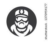 policeman silhouette sign. | Shutterstock . vector #1370954177
