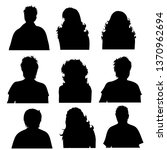 vector silhouette of anonymous... | Shutterstock .eps vector #1370962694