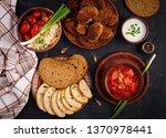 traditional ukrainian russian... | Shutterstock . vector #1370978441