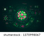 concepts of chemistry research  ... | Shutterstock .eps vector #1370998067