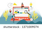 search concept. searching... | Shutterstock . vector #1371009074