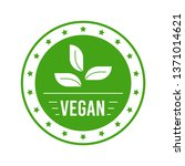 vegetarian food label design.... | Shutterstock .eps vector #1371014621