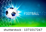 soccer ball on the field. cover ... | Shutterstock .eps vector #1371017267