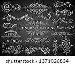 set of vintage decorations... | Shutterstock .eps vector #1371026834