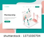landing page template of... | Shutterstock .eps vector #1371030704