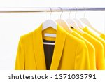 yellow coat clothing with... | Shutterstock . vector #1371033791