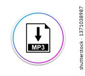 mp3 file document icon.... | Shutterstock .eps vector #1371038987