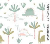 seamless vector pattern with... | Shutterstock .eps vector #1371043307
