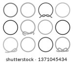 round rope frames set  twisted... | Shutterstock .eps vector #1371045434