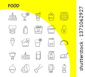 food  hand drawn icons set for... | Shutterstock .eps vector #1371062927