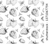 strawberry seamless sketch... | Shutterstock .eps vector #1371067754