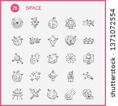 space hand drawn icons set for... | Shutterstock .eps vector #1371072554