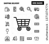 shipping delivery line icon... | Shutterstock .eps vector #1371074774
