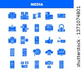 media solid glyph icon for web  ...