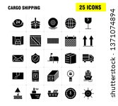 cargo shipping solid glyph icon ...