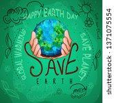earth day illustration go green   Shutterstock .eps vector #1371075554
