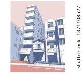manga color landscape   tokyo... | Shutterstock .eps vector #1371108527