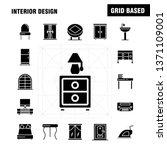 interior design solid glyph...