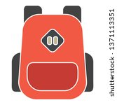 backpack icon. logo element... | Shutterstock .eps vector #1371113351