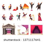 opera theater flat cartoon... | Shutterstock .eps vector #1371117641