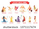 ancient greek gods 2 horizontal ... | Shutterstock .eps vector #1371117674