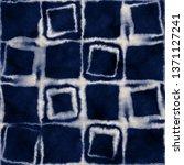 abstract shibori checked... | Shutterstock . vector #1371127241