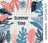summer time illustration. hello ... | Shutterstock .eps vector #1371131717