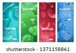 viruses  bacterias  microbes...   Shutterstock .eps vector #1371158861