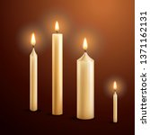 burning candles. vector. | Shutterstock .eps vector #1371162131