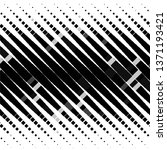 monochrome geometric vector...   Shutterstock .eps vector #1371193421