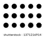 starburst vector badges set.... | Shutterstock .eps vector #1371216914