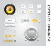 user interface elements ... | Shutterstock .eps vector #137121875