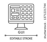gui linear icon. graphical user ...