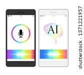 voice recognition  artificial...   Shutterstock .eps vector #1371221957