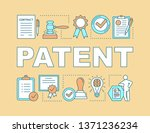 patent word concepts banner.... | Shutterstock .eps vector #1371236234