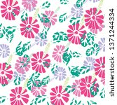 floral background texture and...   Shutterstock .eps vector #1371244334