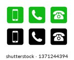 phone icon vector. call icon... | Shutterstock .eps vector #1371244394