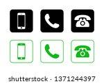 phone icon vector. call icon... | Shutterstock .eps vector #1371244397