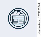 webpage blogging line icon... | Shutterstock .eps vector #1371259064