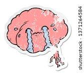 distressed sticker of a cartoon ... | Shutterstock . vector #1371264584