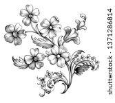 vintage spring flower summer... | Shutterstock .eps vector #1371286814
