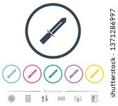 knife flat color icons in round ...   Shutterstock .eps vector #1371286997