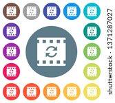 restart movie flat white icons... | Shutterstock .eps vector #1371287027