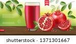 pomegranate realistic ... | Shutterstock .eps vector #1371301667
