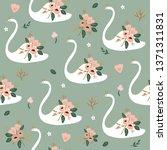 beautiful white swan princess... | Shutterstock .eps vector #1371311831