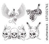 tattoo old school drawing | Shutterstock .eps vector #1371321761