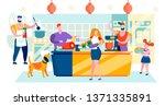 vector illustration shopping... | Shutterstock .eps vector #1371335891