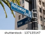 street sign marking the famous... | Shutterstock . vector #137135147