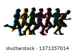 running marathon  people run ... | Shutterstock .eps vector #1371357014
