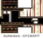 baroque hand drawn vector...   Shutterstock .eps vector #1371365477